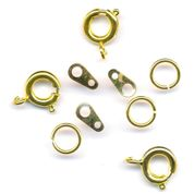 Jewellery Spring Ring Fasteners - Gold - Pack of 3