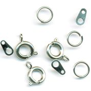 Jewellery Spring Ring Fasteners - Silver - Pack of 3