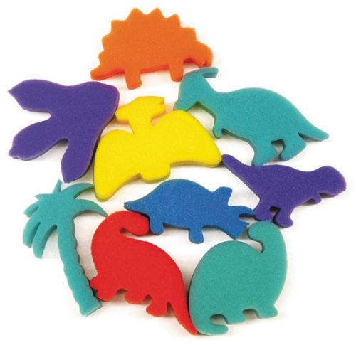 Dinosaur Painting Sponges - Assorted - Pack of 9
