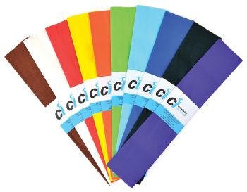 Crepe Paper Class Pack - 51cm x 3m - Assorted - Pack of 60 (5 x 12)