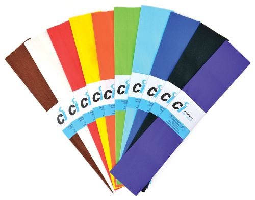 Crepe Paper Class Pack - 51cm x 3m - Assorted - Pack of 60 ( 5 x 12 )