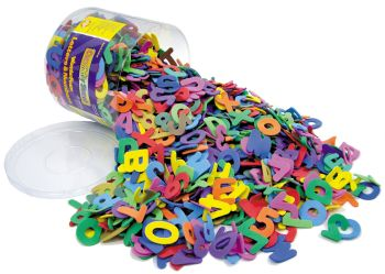 Foam Letters & Numbers - Assorted - Tub of 1500