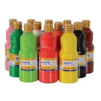 Giotto Early Years Washable Paint - Assorted - 12 x 500ml - Pack of 12