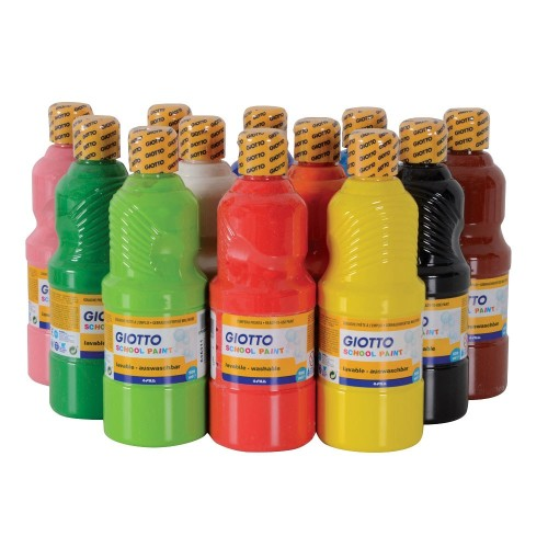 Giotto Nursery Washable Paint - Assorted - Pack of 12 x 500ml