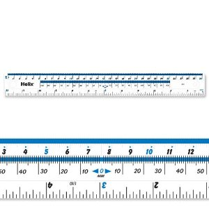 Helix Clear Shatter Resistant Ruler - 30cm - Pack of 10