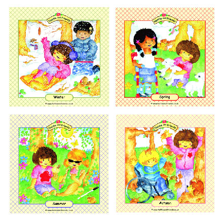 The Seasons Hattie Posters - Assorted - Pack of 4