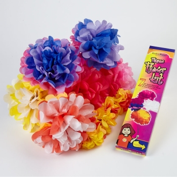 Tissue Paper Flower Kits - Assorted - Pack of 7