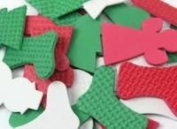 Foam Shapes - Christmas - Assorted - Pack of 100
