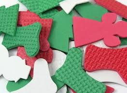 Christmas Foam Shapes - Assorted - Pack of 100