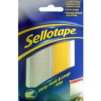 Sellotape Velcro Like Self Adhesive Hook & Loop Strip - 20mm x 45cm - Each