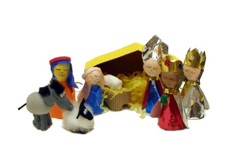 Nativity Kit - Assorted - Makes 7 + Characters