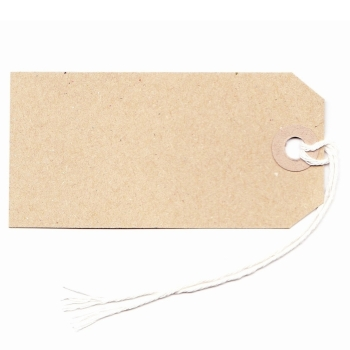 Gift/Label Strung Tags - Buff - Pack of 25