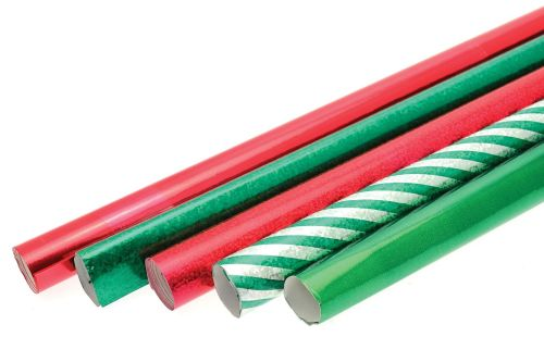 Festive Celebration Rolls - Assorted - Pack of 5 x 50 x 70cm