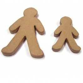 Papier Mache Gingerbread Men - Assorted - Pack of 10