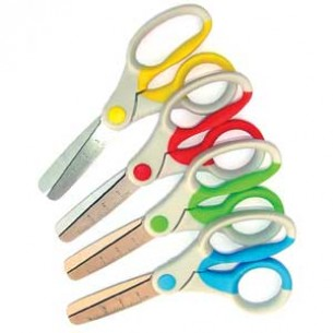 BioGuard Antibacterial Round Tipped Childrens Scissors - 12.5cm - Pack of 12