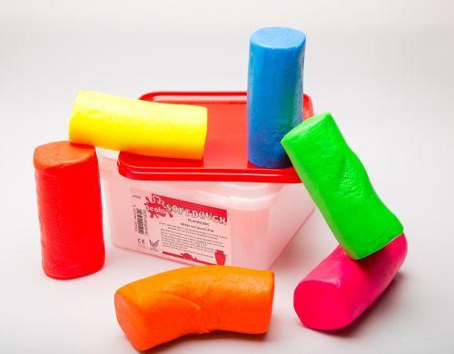 Finger Soft Fluorescent Dough - Assorted  - 1.8kg