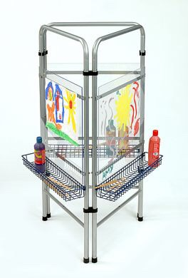 Three Sided See Thru Easel - Adjustable Size - Each