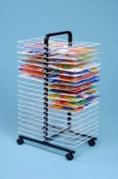 Mobile Drying Rack - 40 Shelf - H107 x W63 x D40cm - Each