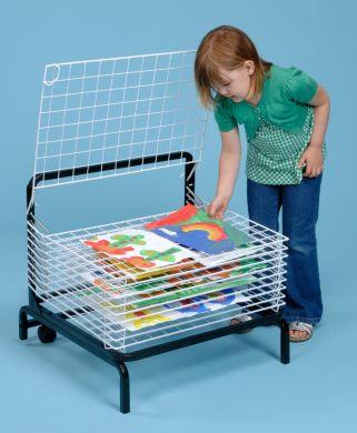 Spring Loaded Drying Rack - 10 shelf - H57 x W61 x D50cm - Each