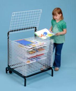 Spring Loaded Drying Rack - 20 Shelf - H83 x L61 x D50cm - Each