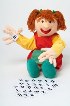 Samantha with Letters Giant Hand Puppet - 70cm - Each