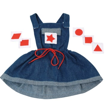 Denim Dress with Velco Shapes for Giant Puppets - Each