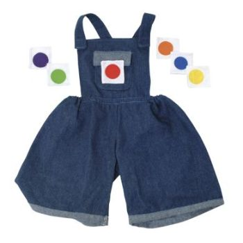 Denim Dungarees with Velcro Colours for Giant Puppets - Each