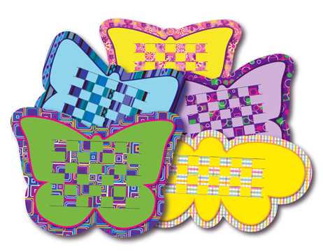 Butterfly Weaving Mats - 15 x 20cm - Pack of 24