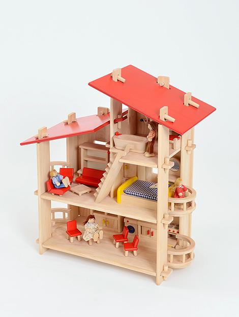 Multi Level Dolls Villa - 71 x 60 x 30cm - Each