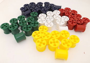 Cotton Reels - Plastic - Assorted - Pack of 100