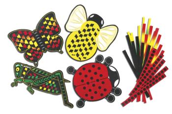 Bugs Weaving Mats - 20 x 20cm - Pack of 24