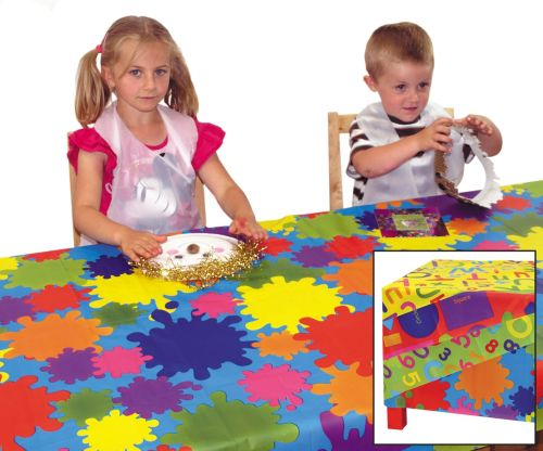 Splash Mats - Educational Learning - 100 x 150cm - Assorted - Pack of 4