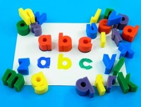 Alphabet Lower Case Letter Painting Sponges - Assorted - Pack of 26