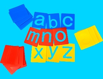 Alphabet Small Lower Case Letter Washable Stencils - Assorted - 7-8cm - Pack of 26