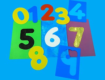 Number Washable Stencils - Assorted - Pack of 10