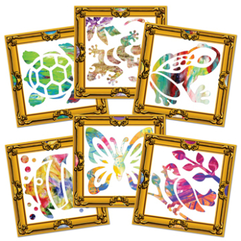 Masterpiece Finger Painting Frames - Assorted - 30.5 x 30.5cm - Pack of 60