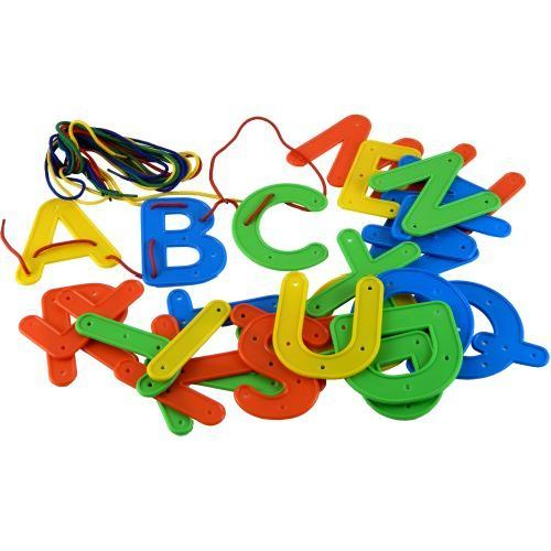 Lacing Letters - Upper Case - Assorted - Pack of 26