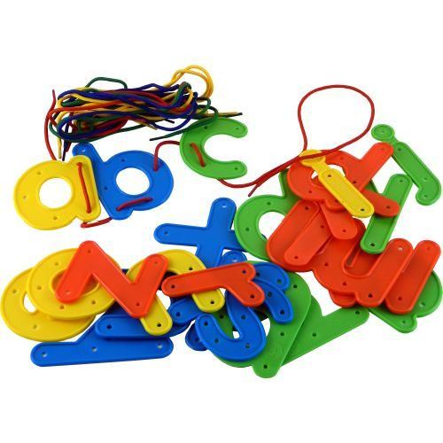 Lacing Letters - Lower Case - Assorted - Pack of 26