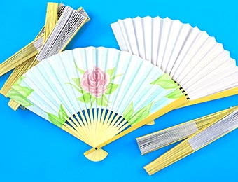 Fans - Paper & Bamboo - 20cm - Pack of 12