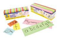 Flash Card Blanks - Assorted - 76 x 228mm - Pack of 250