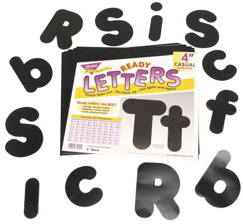 Pre-Cut Upper & Lower Case Letters & Numbers - Assorted - 10cm - Pack of 18