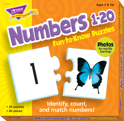 Numbers 1-20 Fun to Know Puzzle - Each