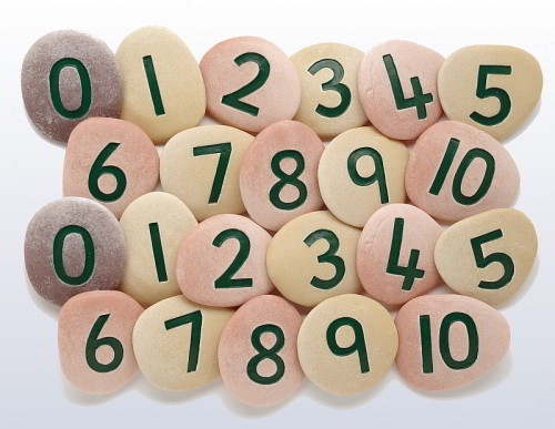 Jumbo Number Pebbles - Assorted - Pack of 20