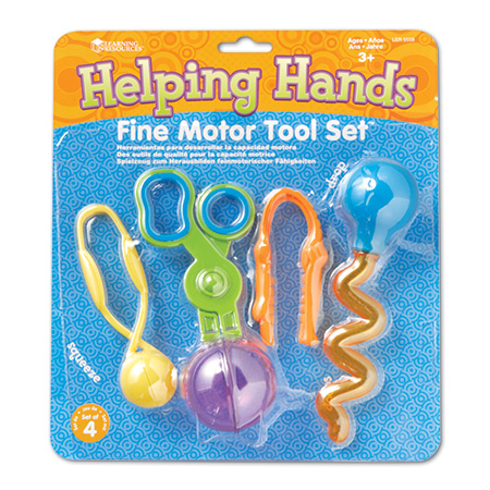 Helping Hands Fine Motor Skills Tool Set - Assorted - Pack of 4