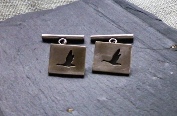 Geese theme cufflinks