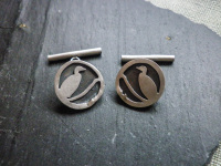 Cormorant theme cufflinks