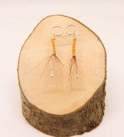 Orange ballerina earring