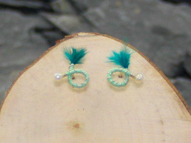Lime green stud earrings