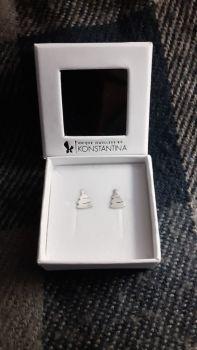 Christmas trees stud earrings