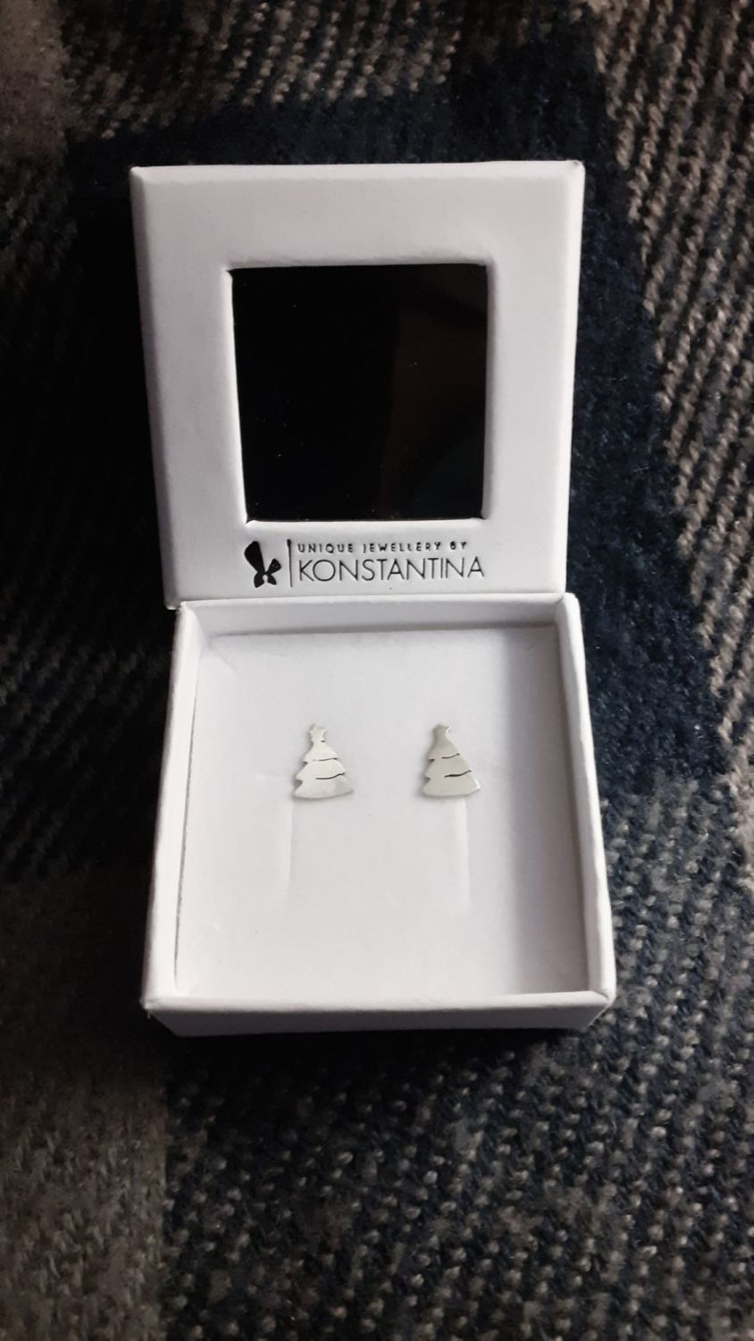Christmas trees stud earrings